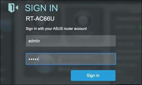 asus.com sign in RT- AC66U